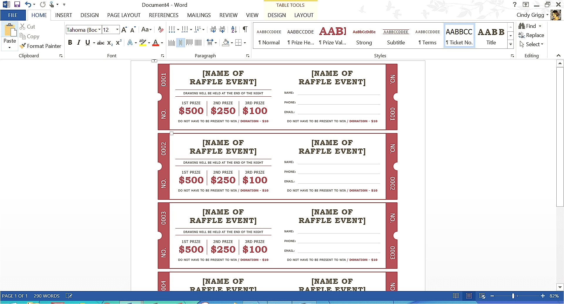 Avery Templates for event Tickets Avery event Ticket Template Unique Free Summer themed