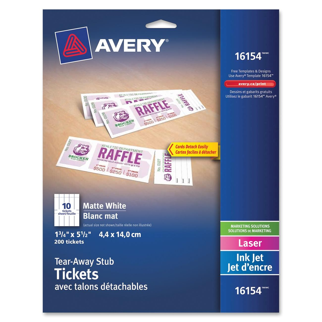 avery printable tickets with tear away stubs ave16154