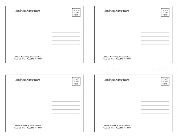 Avery Templates Postcards 3 Best Images Of Avery Postcard Templates Free Avery