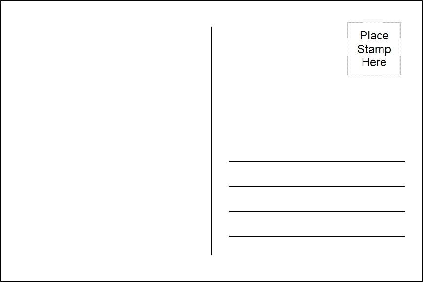 avery template postcard