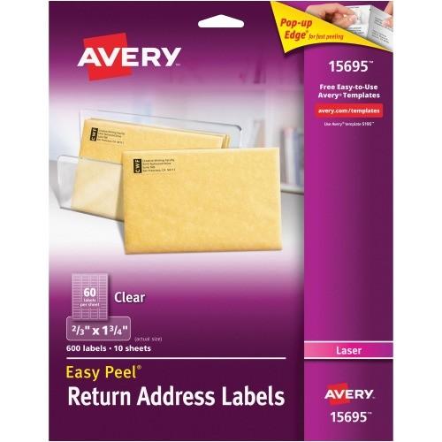 Avery Templates Return Address Labels Avery Easy Peel Return Address Label Ave15695 Shoplet Com