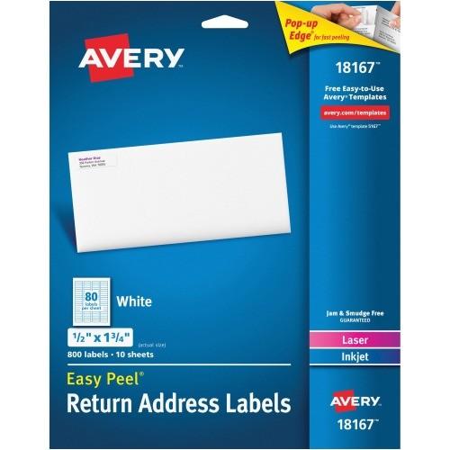 Avery Templates Return Address Labels Avery Return Address Label Ave18167 Shoplet Com