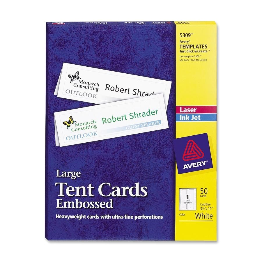 avery ave5309 laser ink jet tent cards