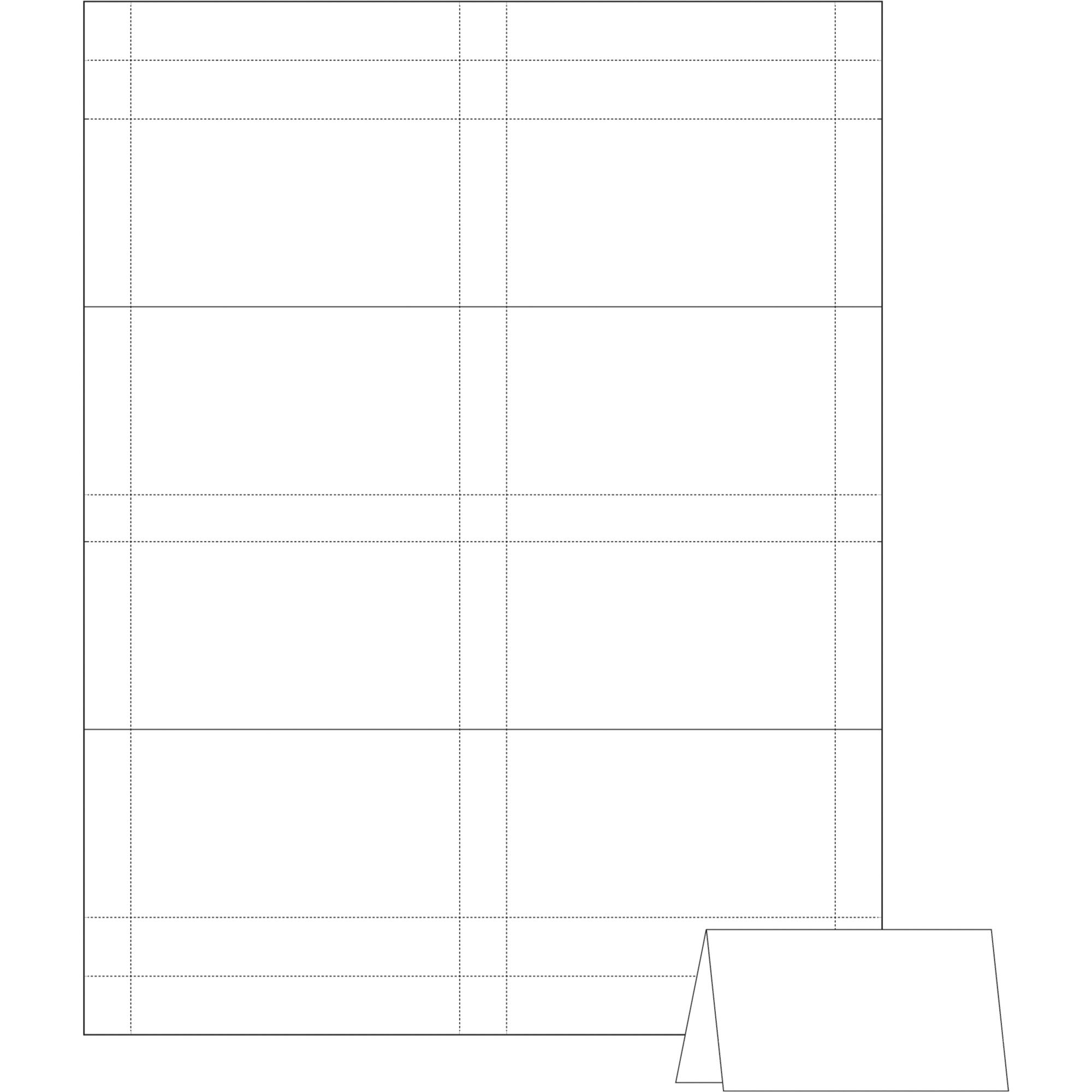 avery tent card template