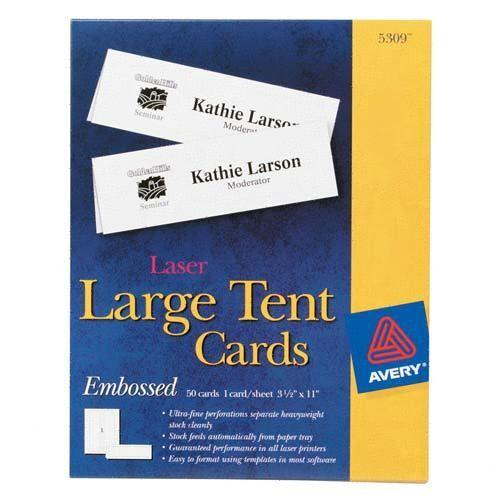 laser amp ink jet tent cards ave5309 2173393 prd1