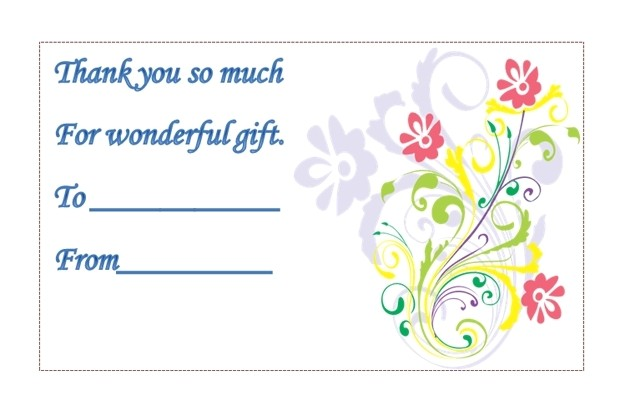 avery thank you card template