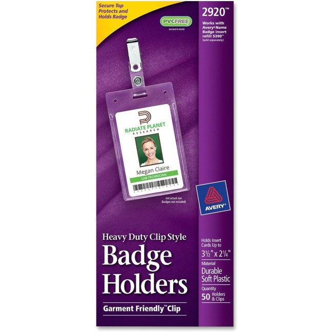 ave2920 avery 2920 flexible badge holder