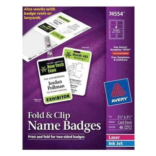 avery fold clip name badges coupon 5off utm medium shoppingengine utm source shoppingdotcom utm content pn 32060895 sku ave 74554 scpid 8 scid scsho sc intid pn 32060895