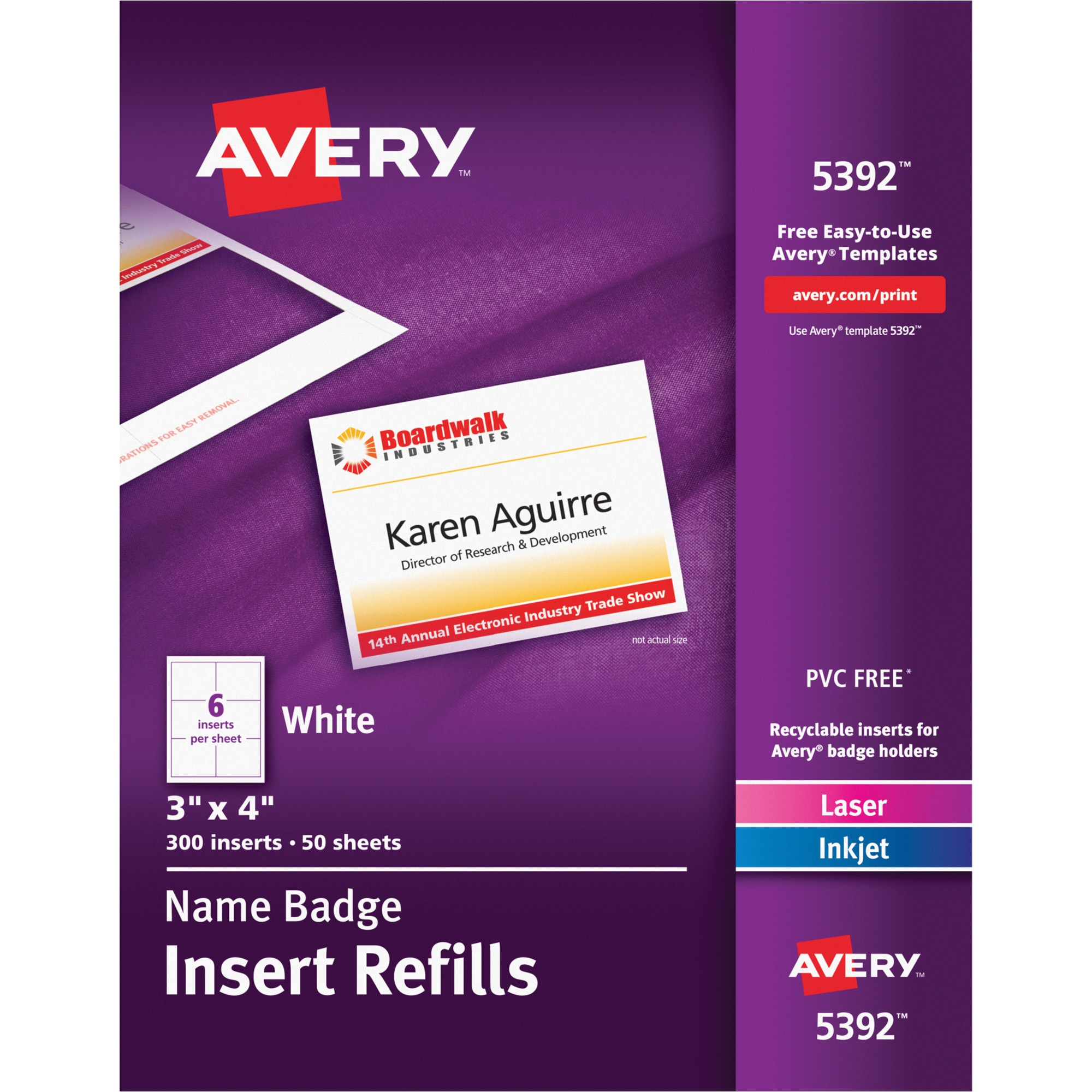 avery name badge insert refill ave5392