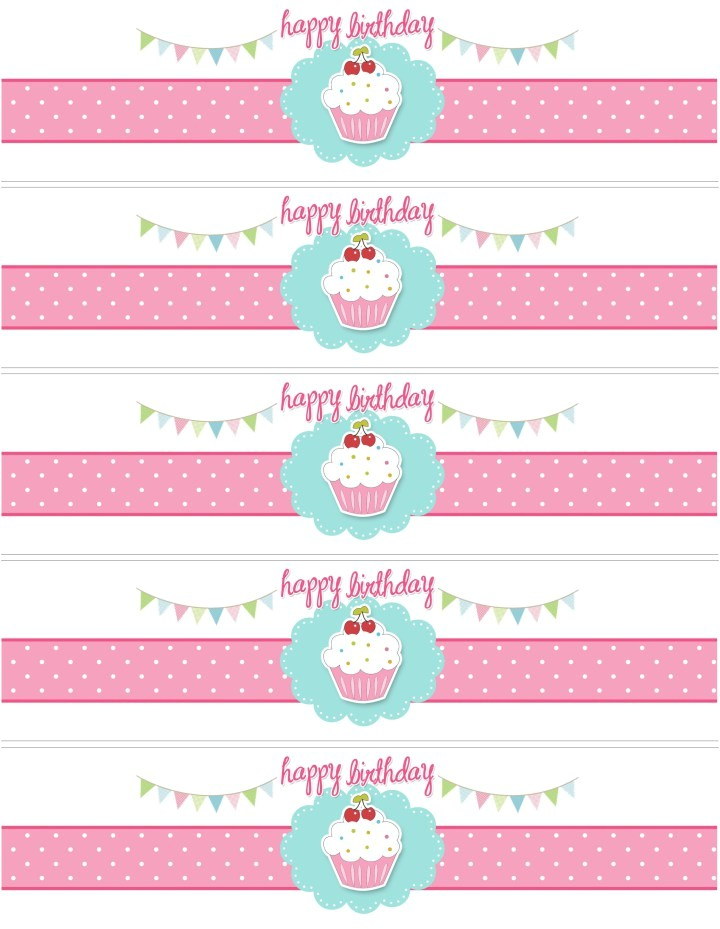 Avery Water Bottle Label Template Free Printable Birthday Calendar Cupcakes Hot Girls