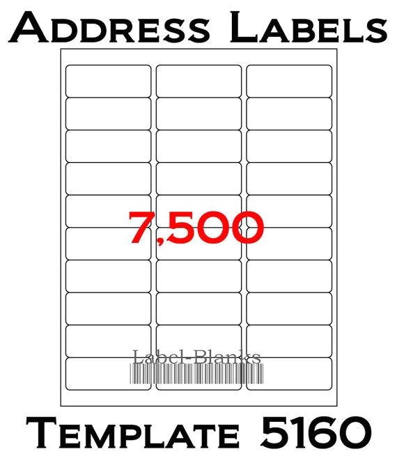 laser ink jet labels 250 sheets 1 x 2 58