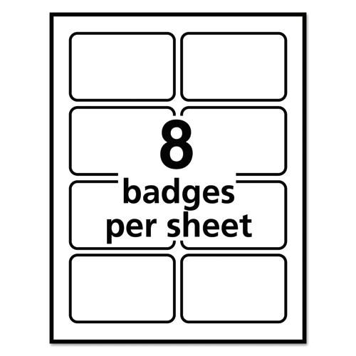 Avery White Adhesive Name Badges 5395 Template Ave5095 Avery Flexible Self Adhesive Laser Inkjet Name