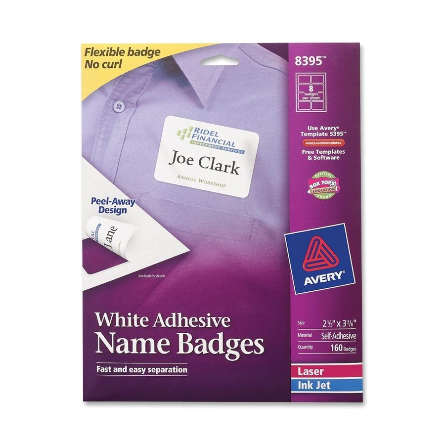 avery ave8395 name badge label