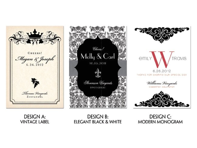 customized wine labels printable digital