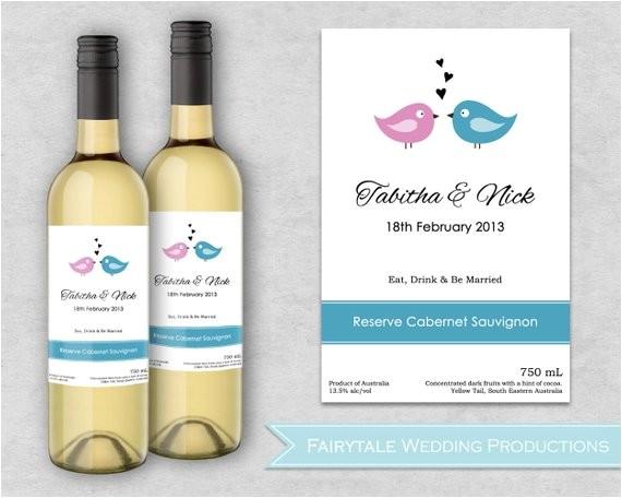 personalized wedding wine label stickers