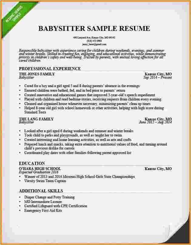 Babysitting Bio Resume Sample Babysitter Resume Sample Template Learnhowtoloseweight Net