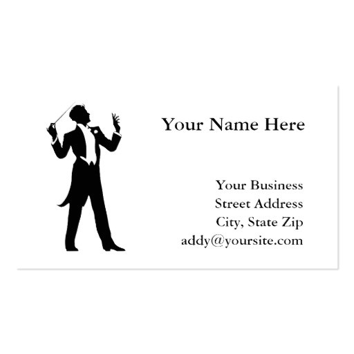 band conductor business card templates 240318644573749570