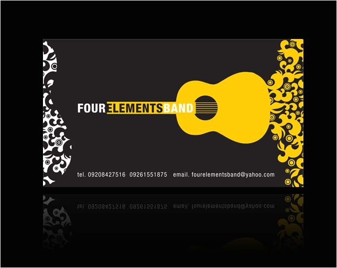 four elements band business card 2007 274468027