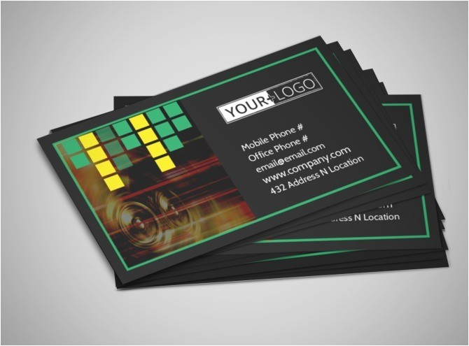 popular music band business card template