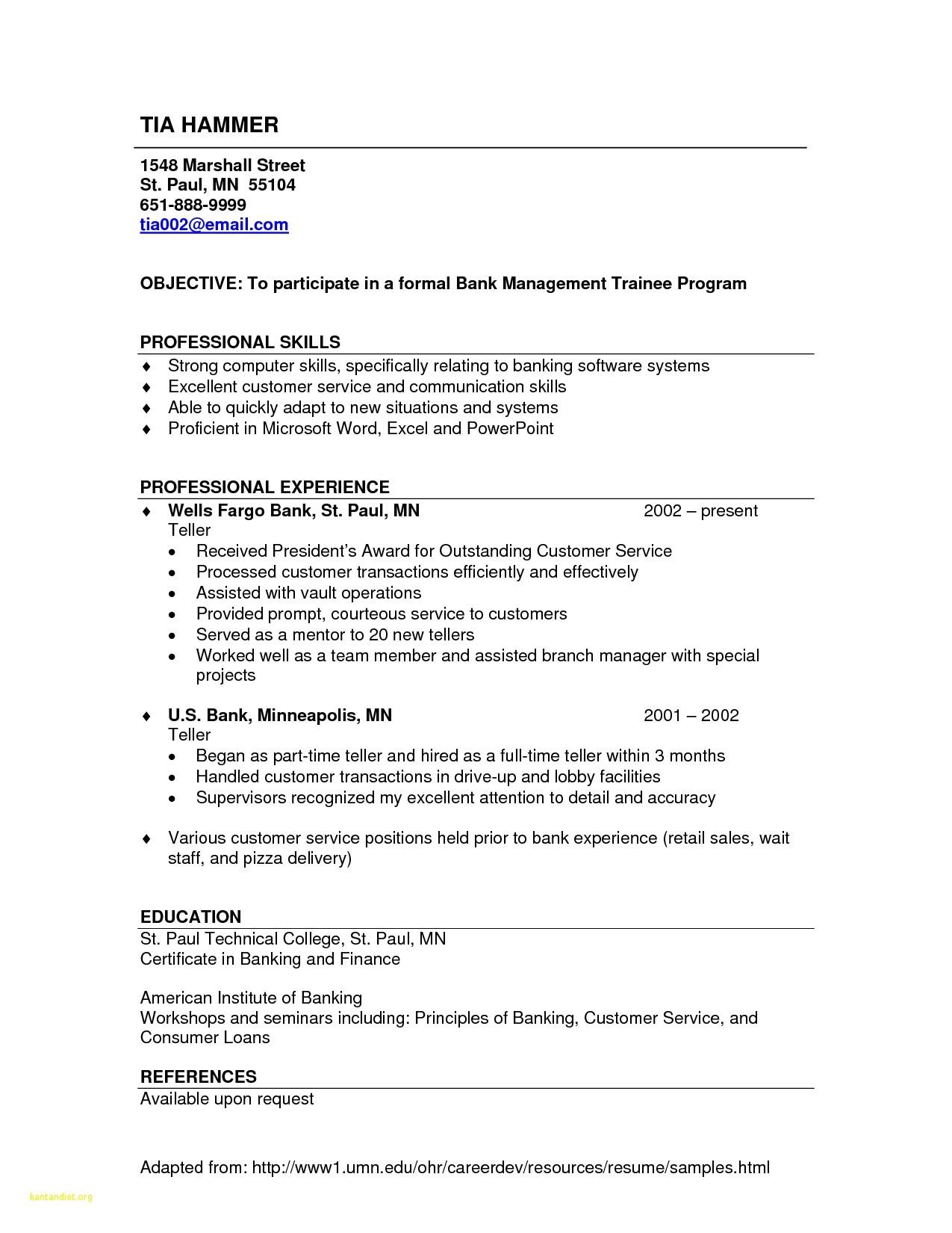 Bank Teller Resume Templates No Experience Fresh Bank Teller Sample Resume Professional Resume
