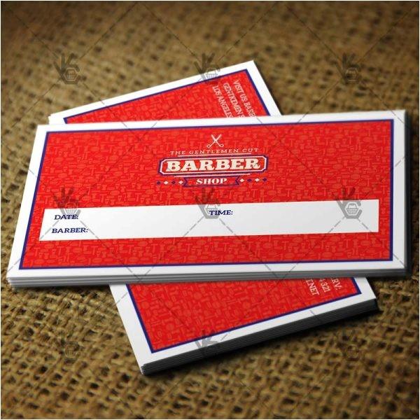 barber shop premium business card psdai template