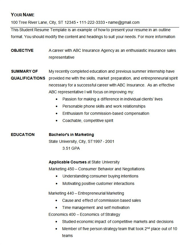 Basic Resume Template Download Basic Resume Template 70 Free Samples Examples format
