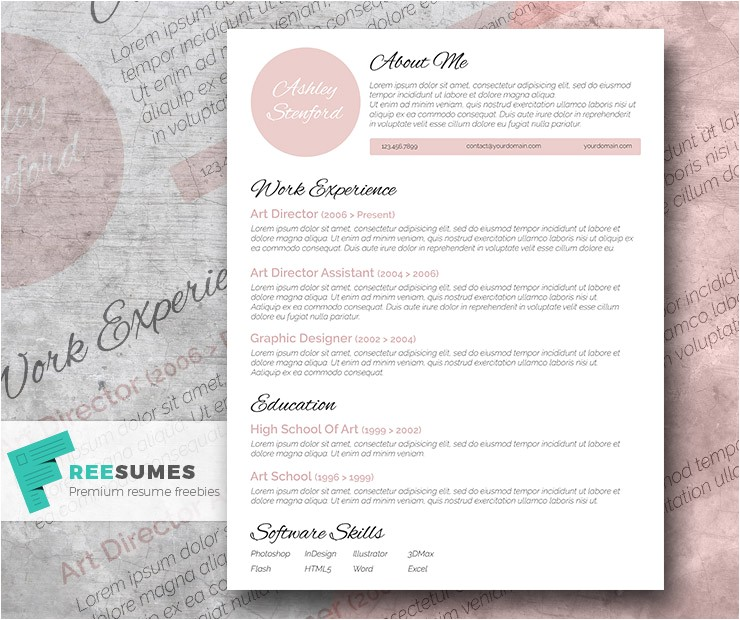 Beautiful Resume Templates Free touch Of Pink A Beautiful Free Resume Template Freesumes