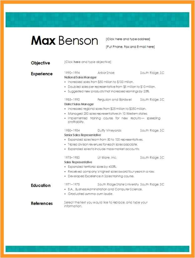 Best Free Resume Templates Word Best Resume Template Microsoft Word Bio Letter format