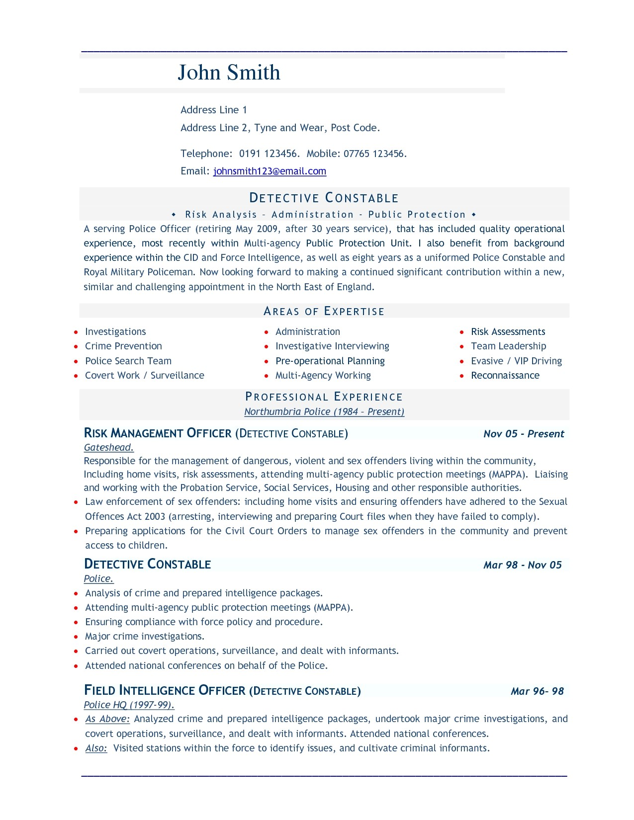 best resume words template