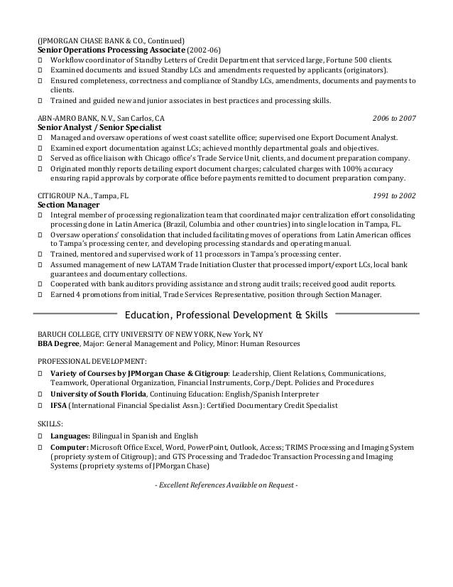 Blackwater Resume Template Citi Cover Letter Templates