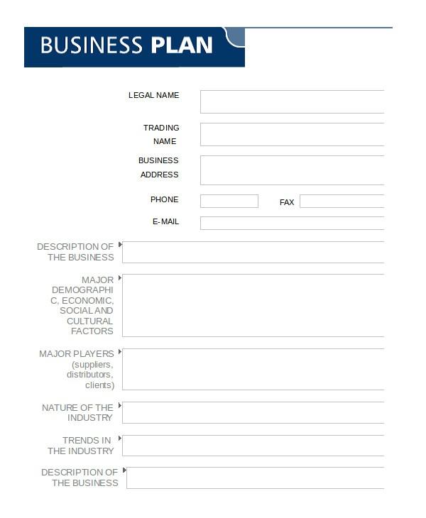 word business plan
