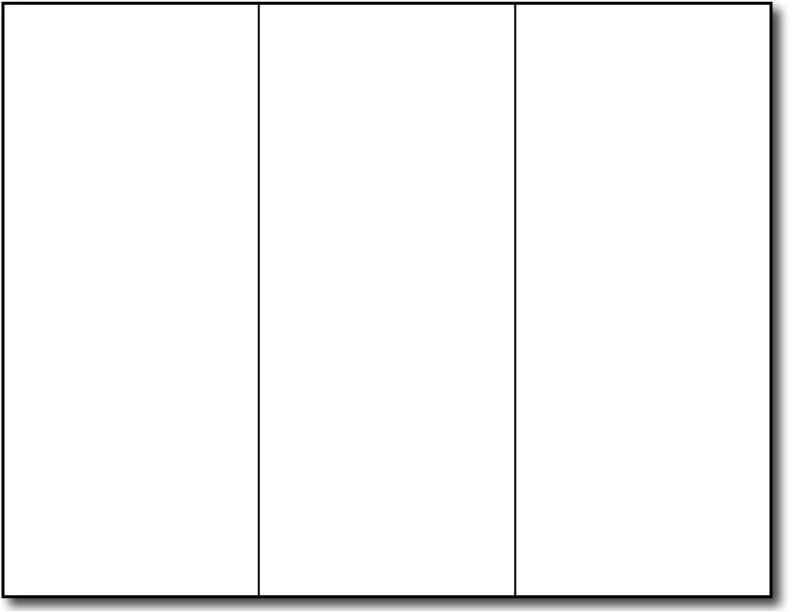 blank brochure template word