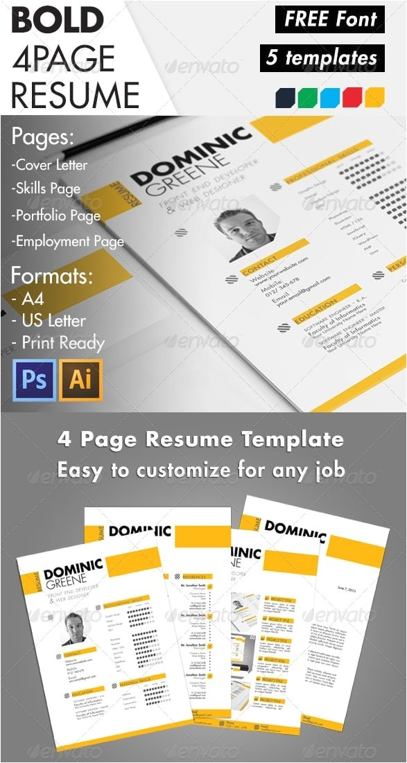 Bold Resume Template Awesome Free Resume Cv Templates 56pixels Com