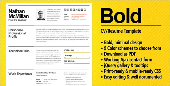 Bold Resume Template Bold A Cv Resume Template for Smart Professionals Meet