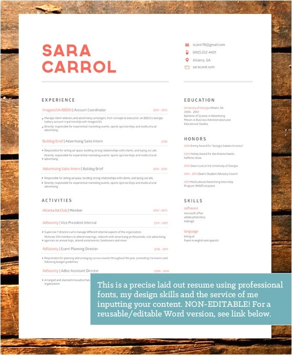 professionally designed bold resume