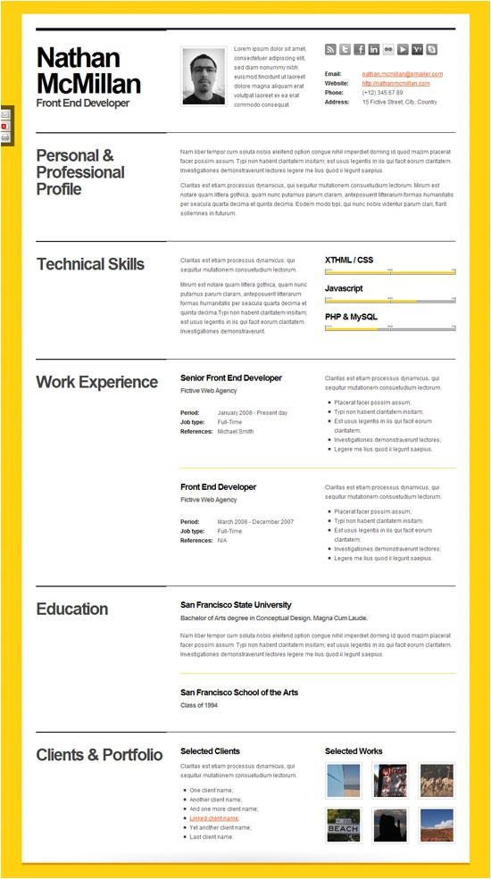 Bold Resume Template Kumar 39 S Blog