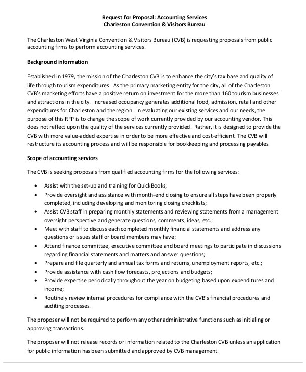 Bookkeeping Services Proposal Template 14 Accounting Proposal Templates Free Sample Example