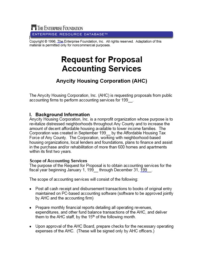 request proposal accounting services 13440