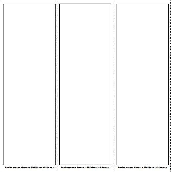 printable bookmark template 919