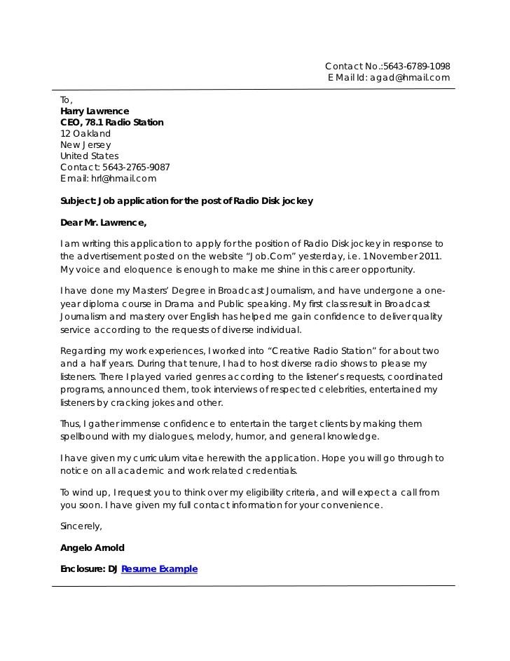 Broadcasting Internship Resume Sample Sample Cover Letter September 2015