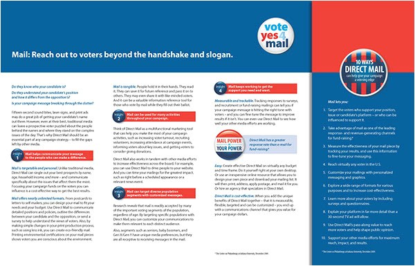 Brochure Mailer Template 10 Political Brochures Sample Templates