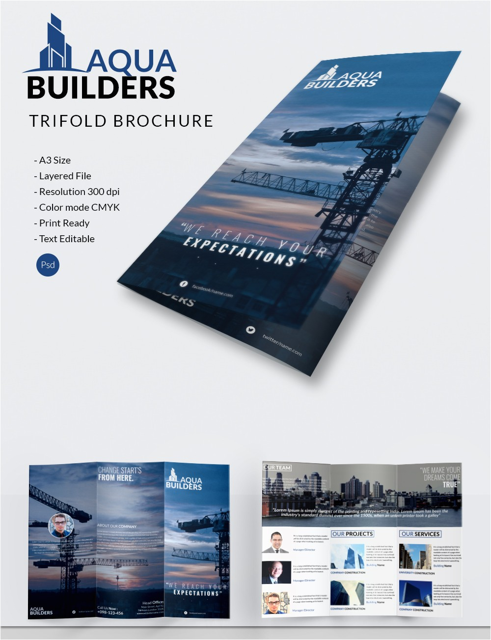 construction company brochure template