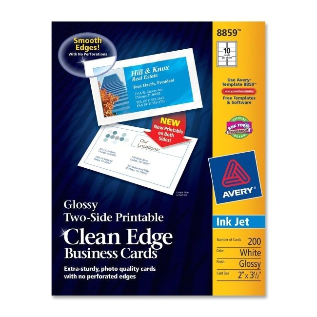 avery dennison 8859 clean edge business card 2427453 prd1