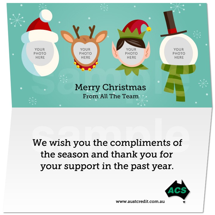 business email christmas card template e cards teamphoto sample