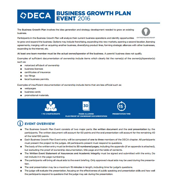 growth plan template