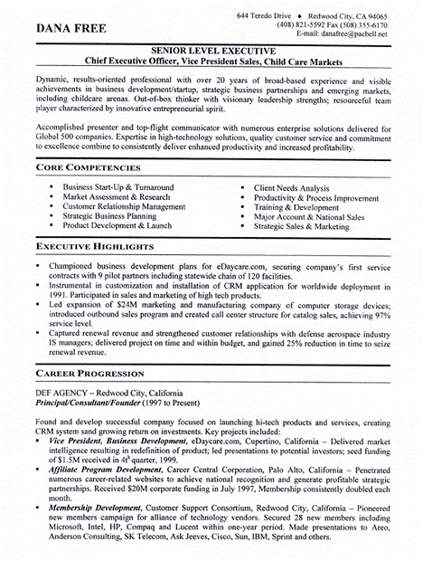 small business owner resume sample