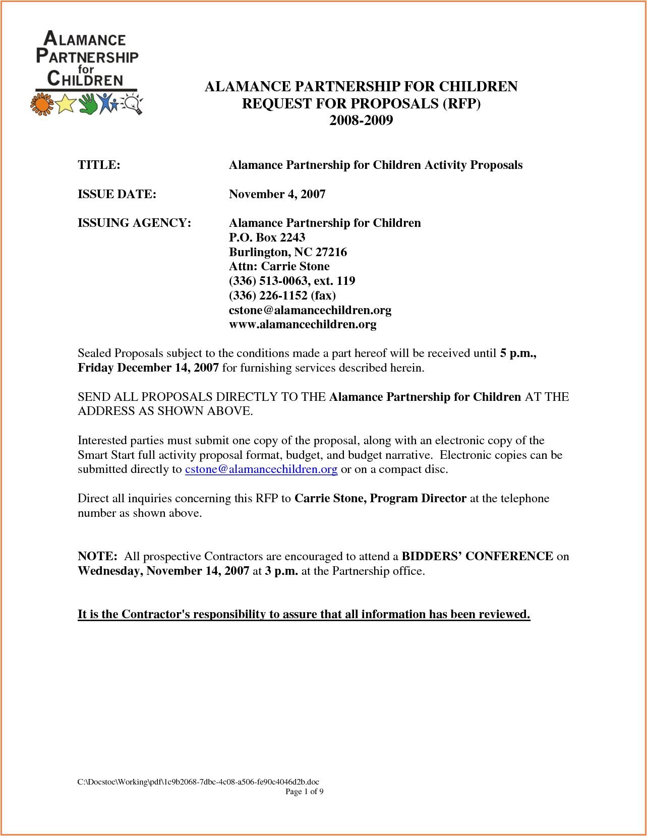 5 business partnership proposal template