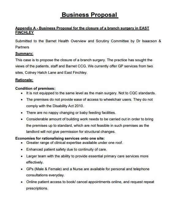sample business proposal
