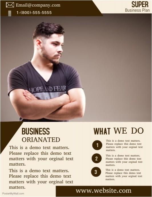 business plan flyer template