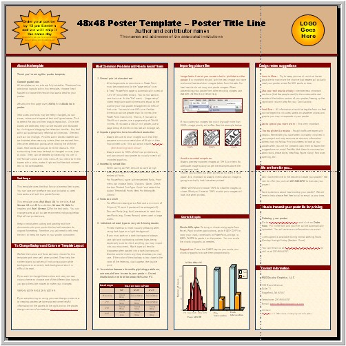 scientific poster template free powerpoint